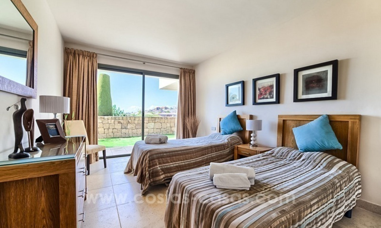 Modern luxury frontline golf ground floor apartment in a 5-star golf resort for sale in Benahavis - Marbella 9