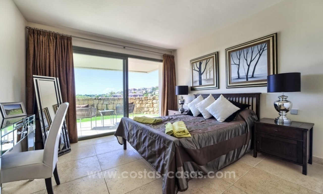 Modern luxury frontline golf ground floor apartment in a 5-star golf resort for sale in Benahavis - Marbella 8