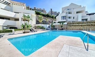 Modern luxury frontline golf ground floor apartment in a 5-star golf resort for sale in Benahavis - Marbella 13