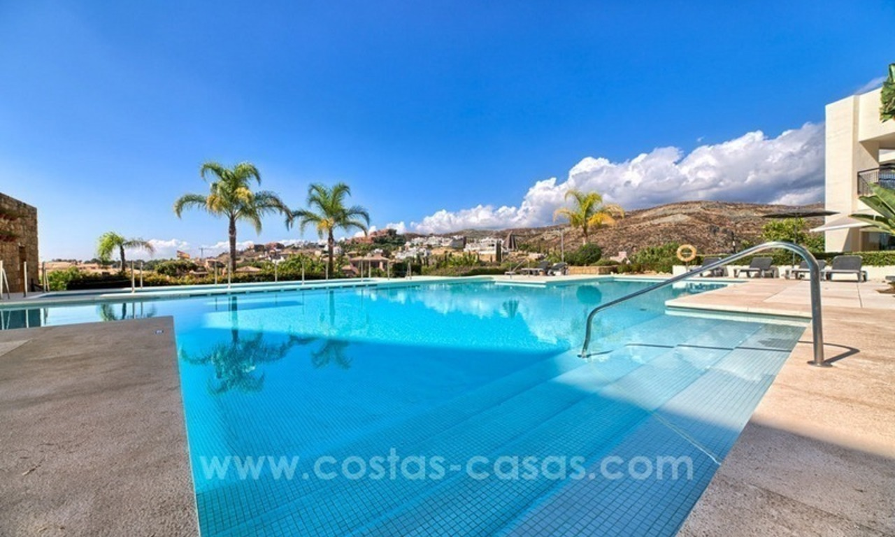 Modern luxury frontline golf ground floor apartment in a 5-star golf resort for sale in Benahavis - Marbella 14