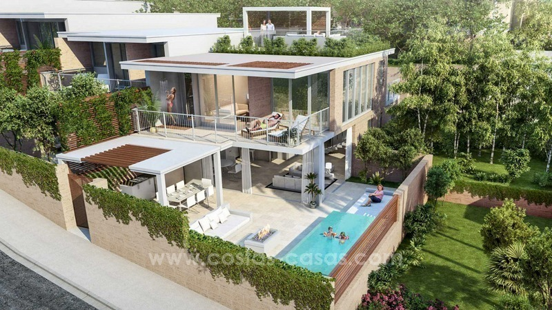For sale in Mijas, Costa del Sol: New luxury modern villas in a resort 0