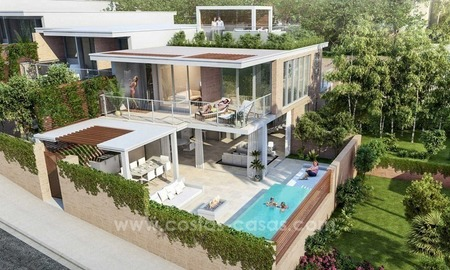 For sale in Mijas, Costa del Sol: New luxury modern villas in a resort
