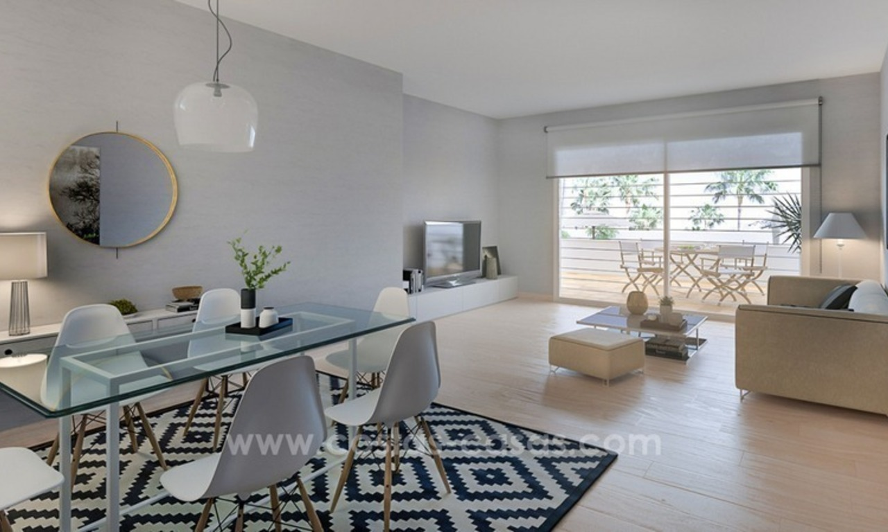 New modern 2 or 3 bedrooms apartments for sale in Nueva Andalucía, Marbella 4