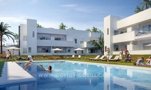 New modern 2 or 3 bedrooms apartments for sale in Nueva Andalucía, Marbella
