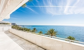 Exclusive upmarket frontline beach apartment for sale in Marbella center 1