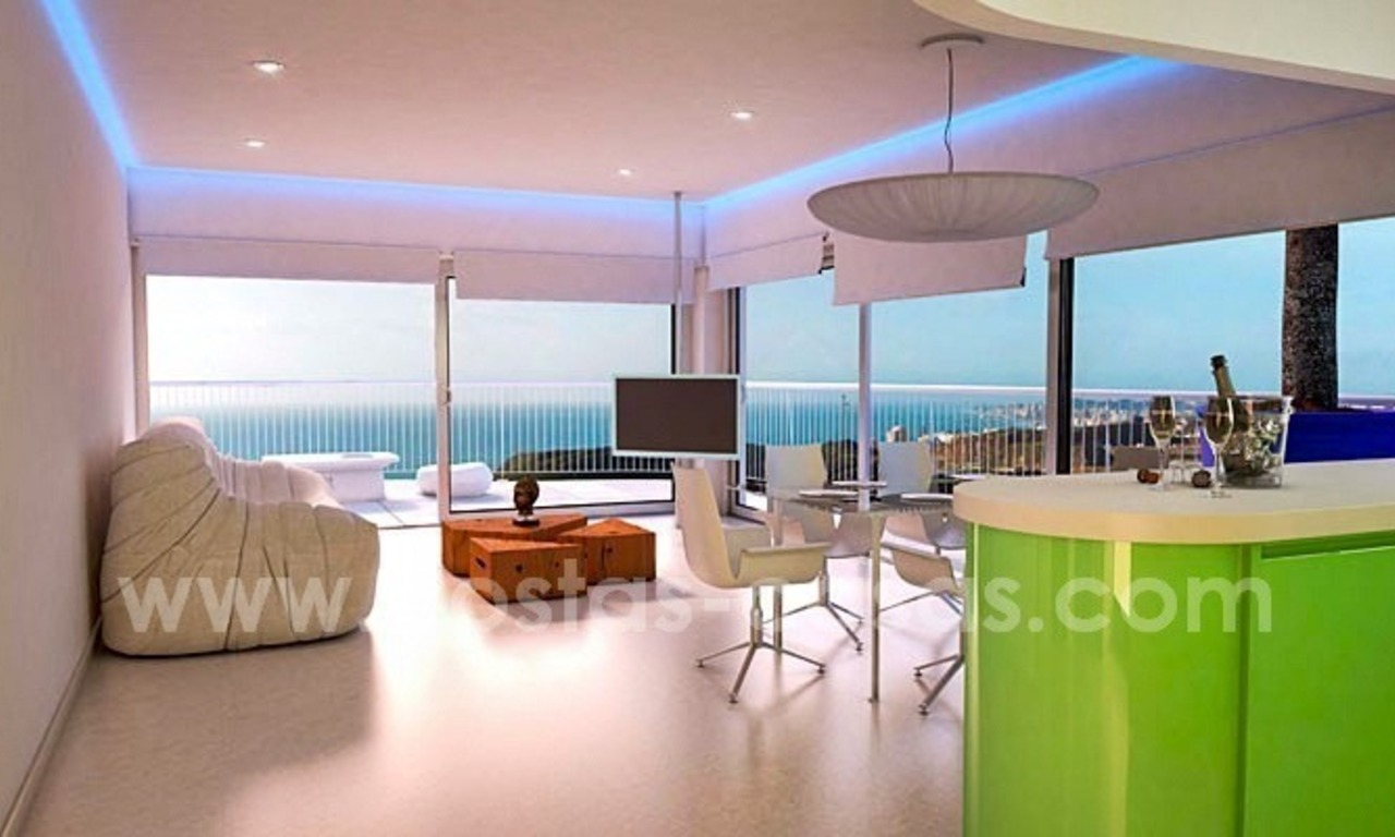 New luxury modern penthouses and apartments for sale in Benalmadena, Costa del Sol 7