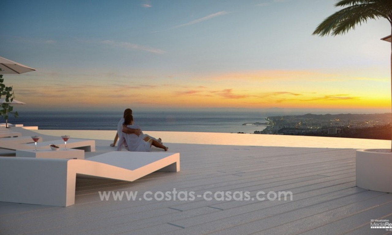 New luxury modern penthouses and apartments for sale in Benalmadena, Costa del Sol 1