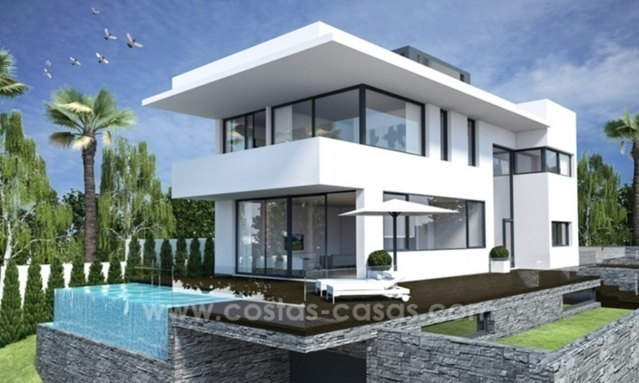 New modern luxury beachside villa for sale in Marbella East