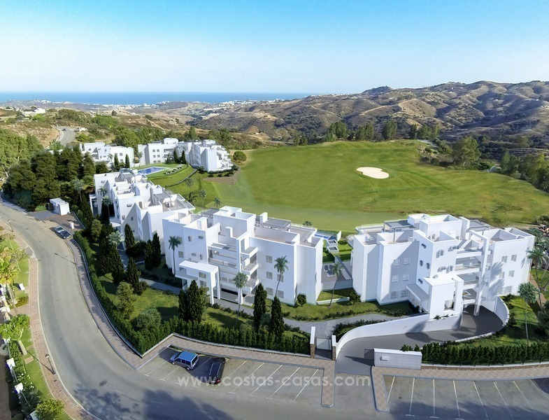 New luxury modern apartments for sale in Mijas golf resort, Costa del sol