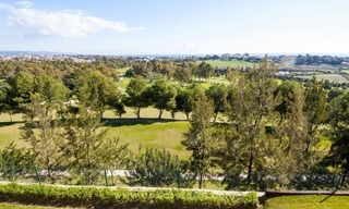 Front line golf, modern style villa for sale in Marbella - Benahavis with spectacular views to the sea, golf and mountains 2