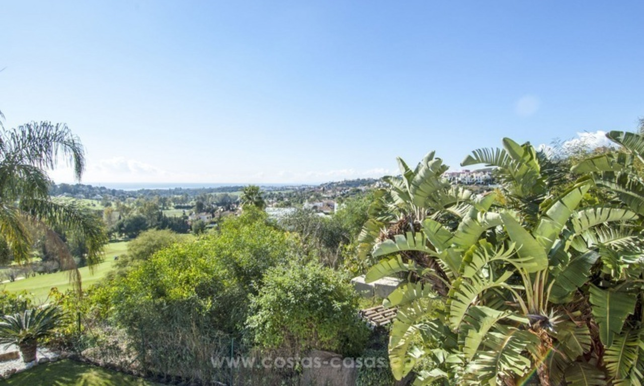 Front line golf, modern style villa for sale in Marbella - Benahavis with spectacular views to the sea, golf and mountains 6
