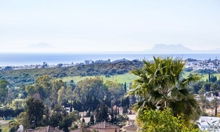 Front line golf, modern style villa for sale in Marbella - Benahavis with spectacular views to the sea, golf and mountains 8