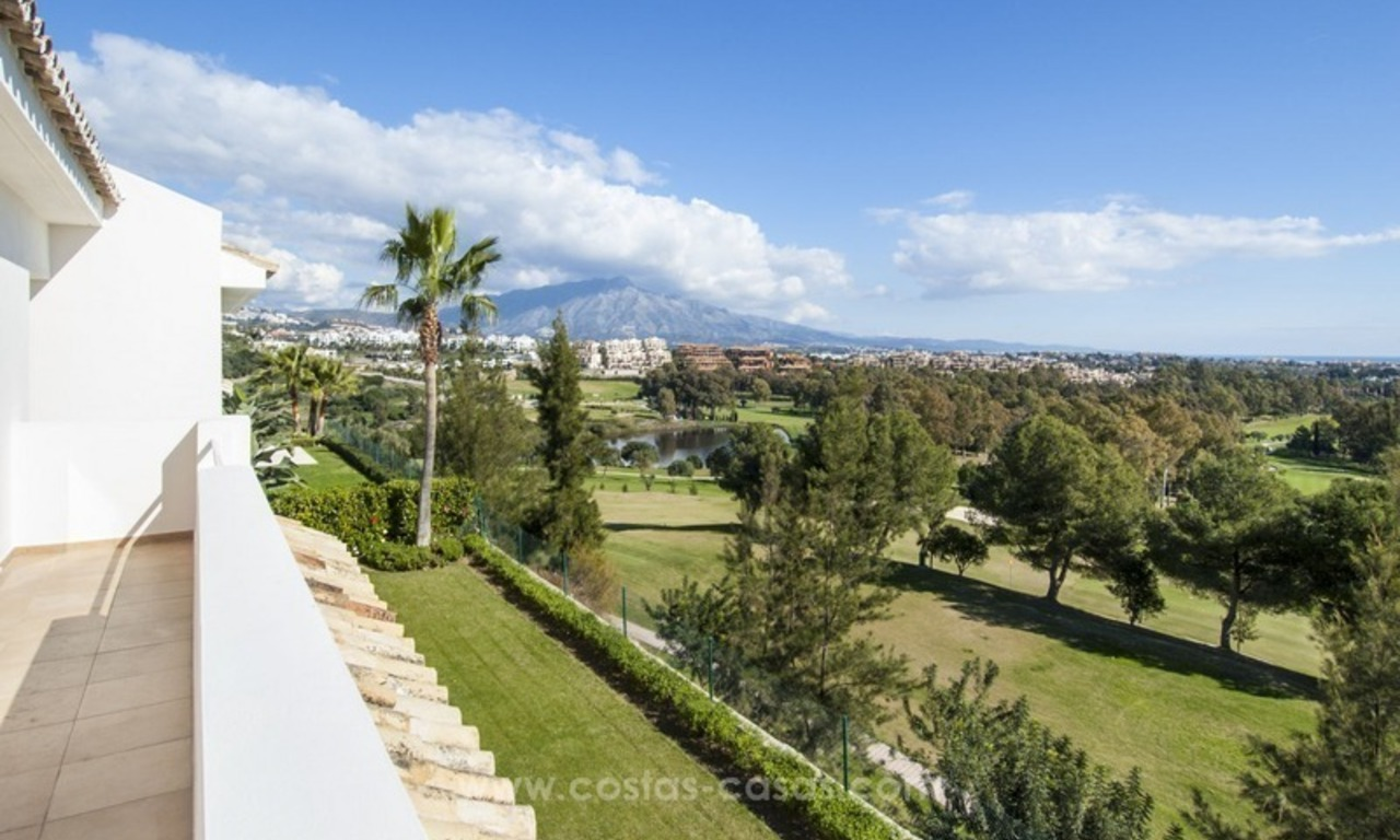 Front line golf, modern style villa for sale in Marbella - Benahavis with spectacular views to the sea, golf and mountains 38