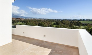 Front line golf, modern style villa for sale in Marbella - Benahavis with spectacular views to the sea, golf and mountains 40