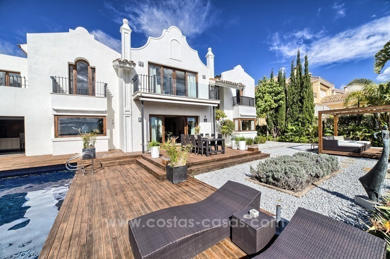Modern renovated frontline golf villa for sale in Benahavis - Marbella 0