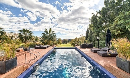 Modern renovated frontline golf villa for sale in Benahavis - Marbella 3