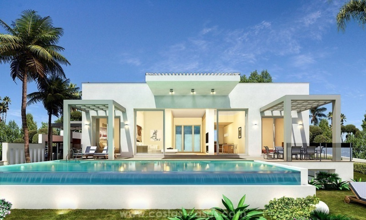 Luxury new modern villa for sale in Nueva Andalucía, Marbella 0