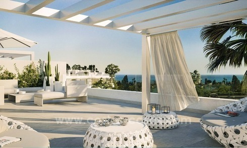 Brand new contemporary apartments for sale on the New Golden Mile, between Marbella and Estepona