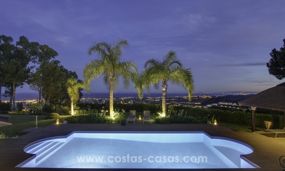 Marbella - Benahavis for Sale: Ultimate Panoramic Sea Views and Fully Refurbished Villa 412