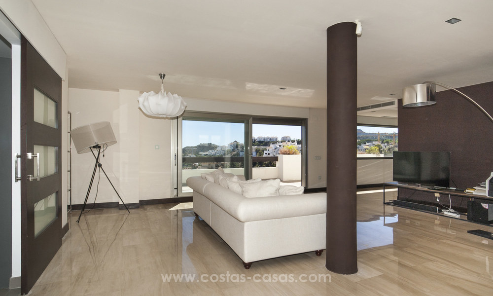 Panoramic sea view modern penthouse apartment for sale in Benahavis, Marbella 19982