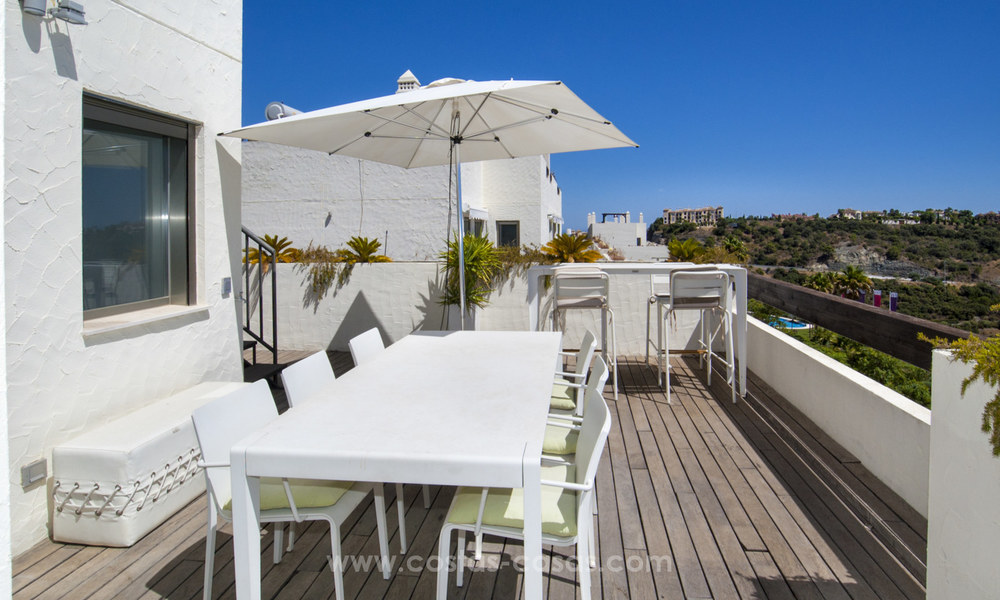 Panoramic sea view modern penthouse apartment for sale in Benahavis, Marbella 19987