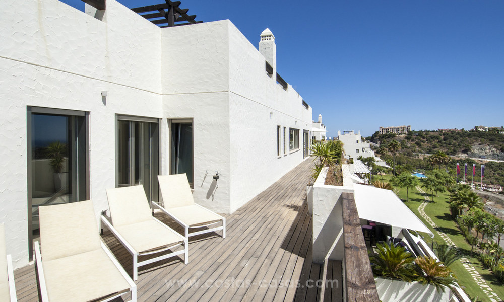 Panoramic sea view modern penthouse apartment for sale in Benahavis, Marbella 19990