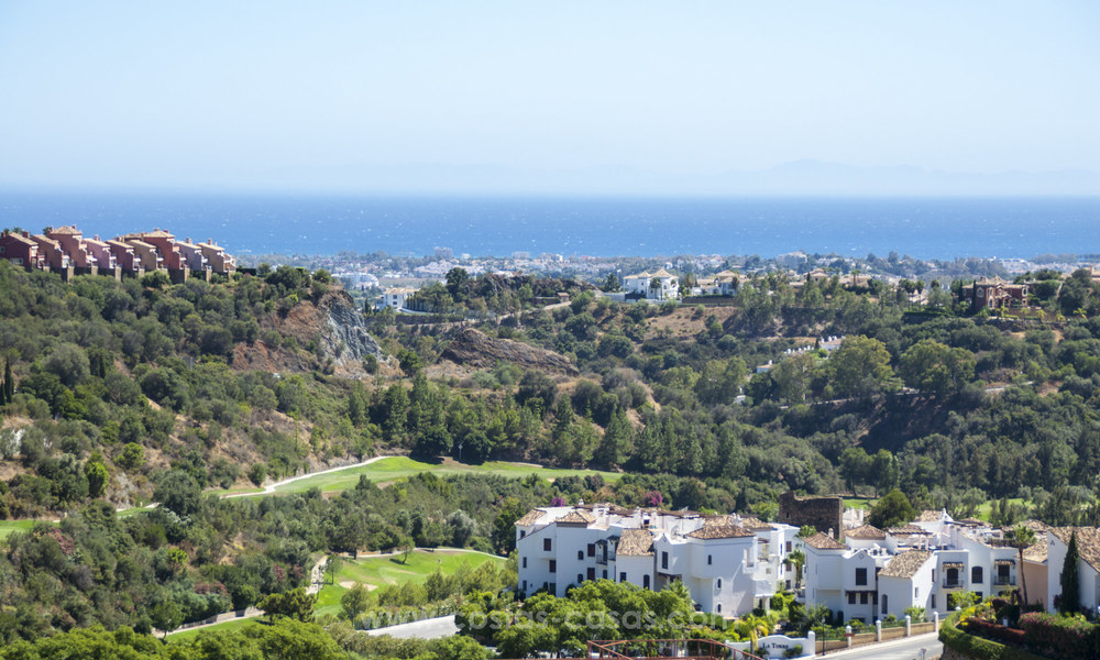 Panoramic sea view modern penthouse apartment for sale in Benahavis, Marbella 19998