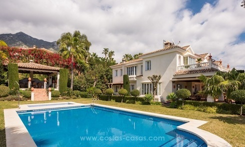 Elegant luxurious traditional style villa for sale in Sierra Blanca, the Golden Mile, Marbella