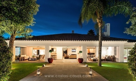 Front Line Golf Designer Villa for sale in Nueva Andalucia, Marbella
