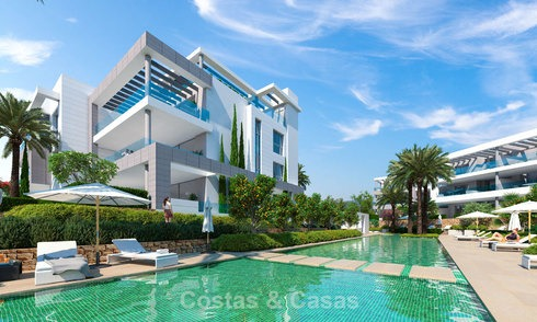 Modern designer apartments near to beach for sale between Estepona - Marbella 5603
