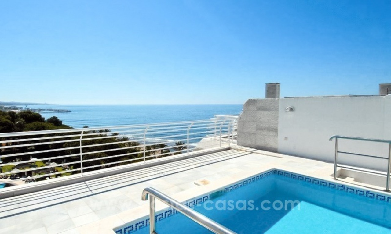 Luxury Penthouse apartment for sale, beachfront Golden Mile - Marbella centre 2