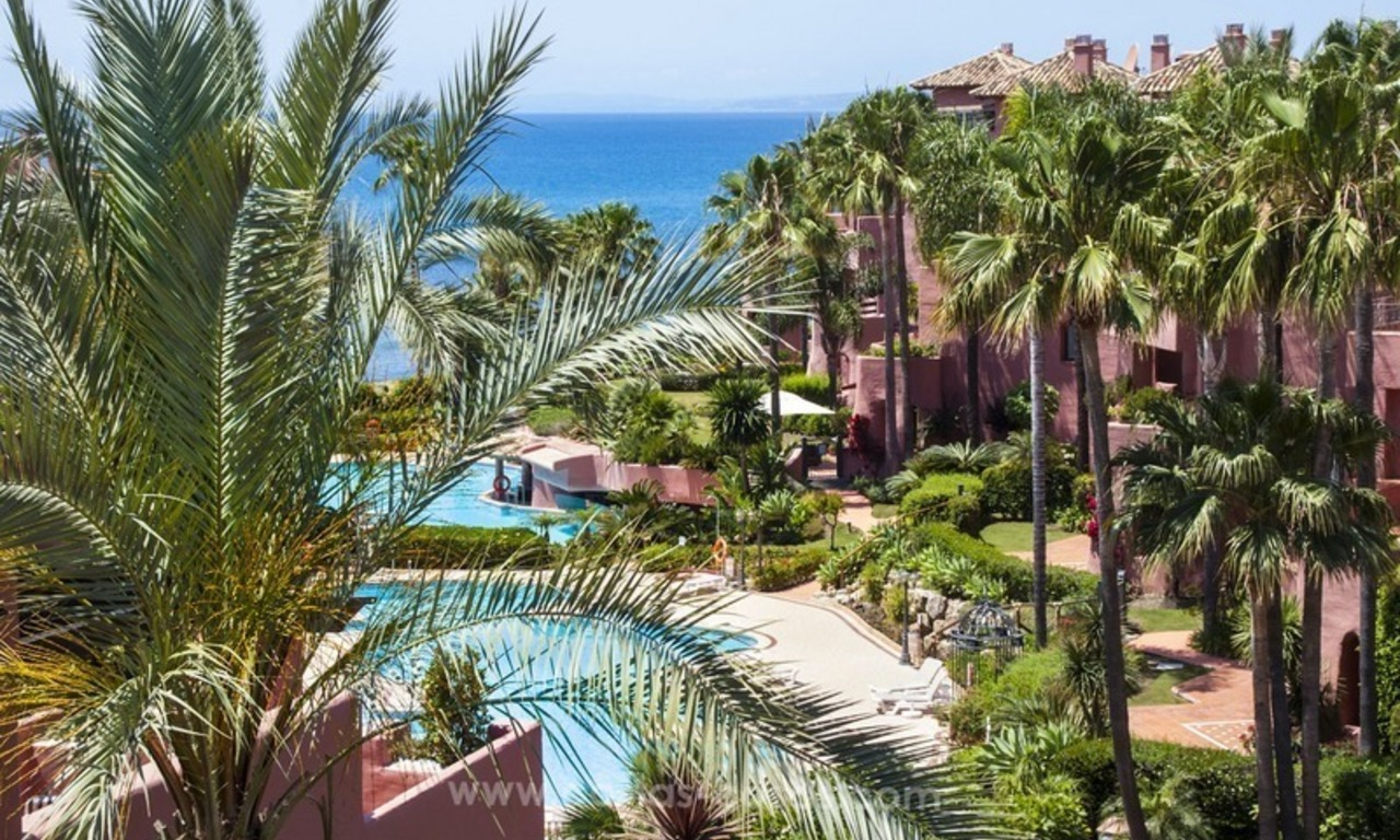 Luxury beachfront penthouse apartment for sale on the New Golden Mile between Marbella and Estepona 0