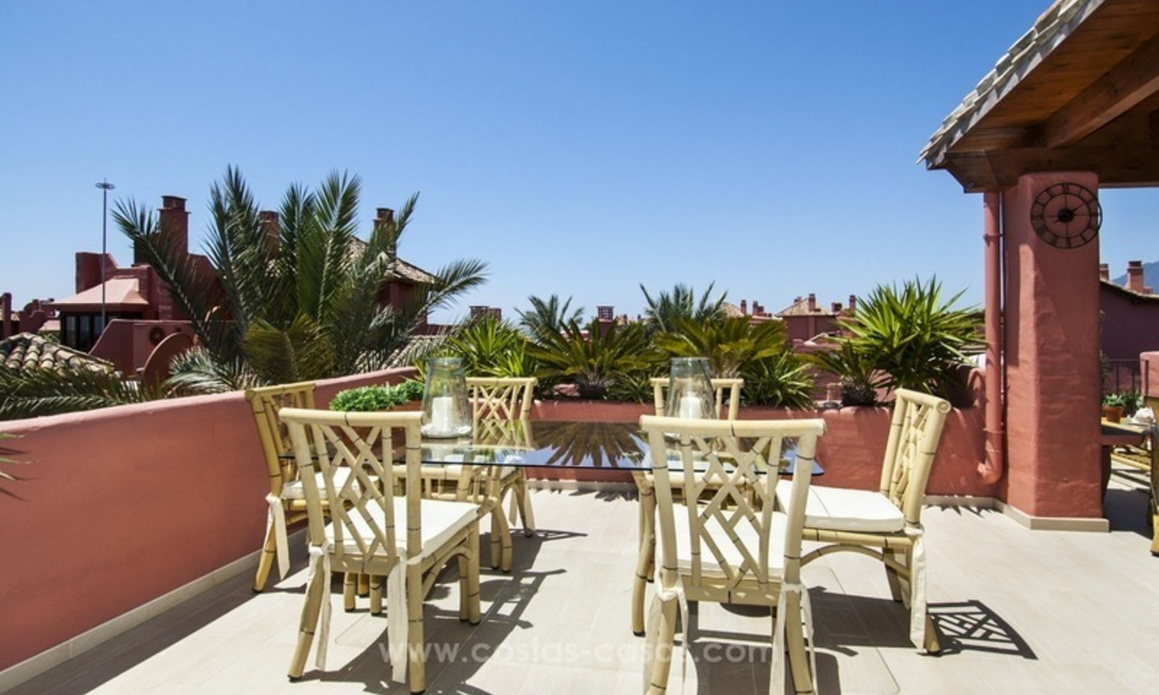 Luxury beachfront penthouse apartment for sale on the New Golden Mile between Marbella and Estepona 8