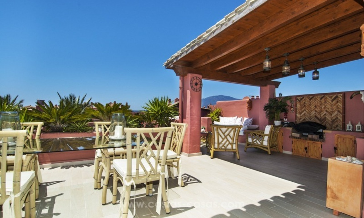 Luxury beachfront penthouse apartment for sale on the New Golden Mile between Marbella and Estepona 7