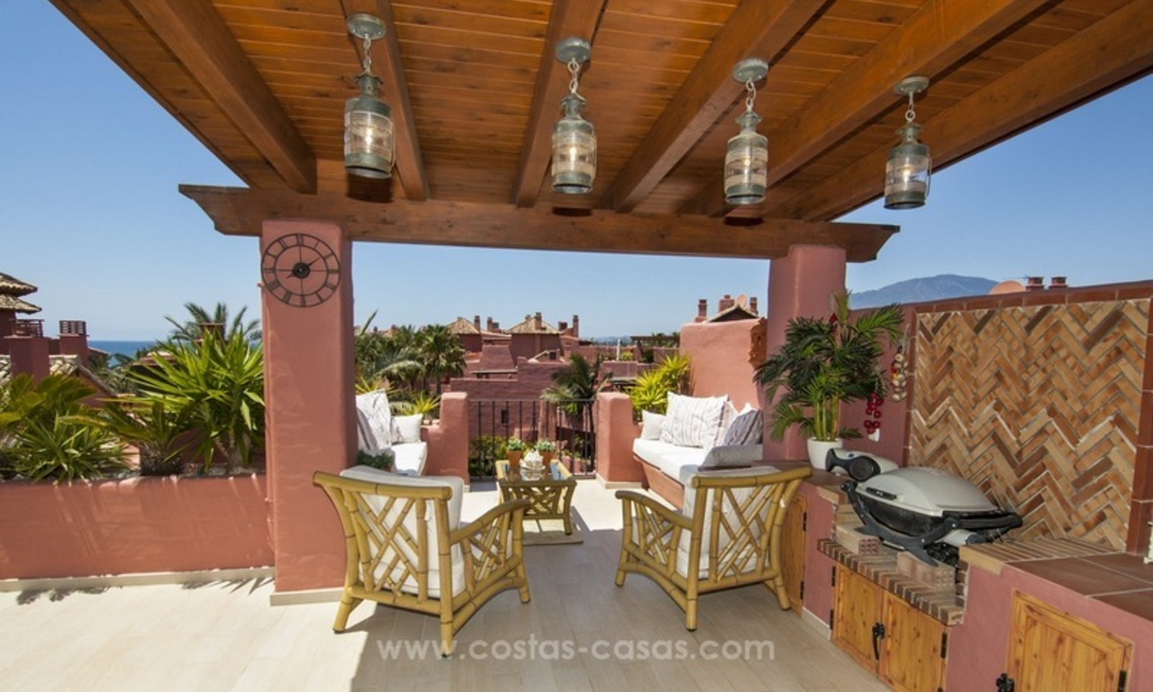 Luxury beachfront penthouse apartment for sale on the New Golden Mile between Marbella and Estepona 5
