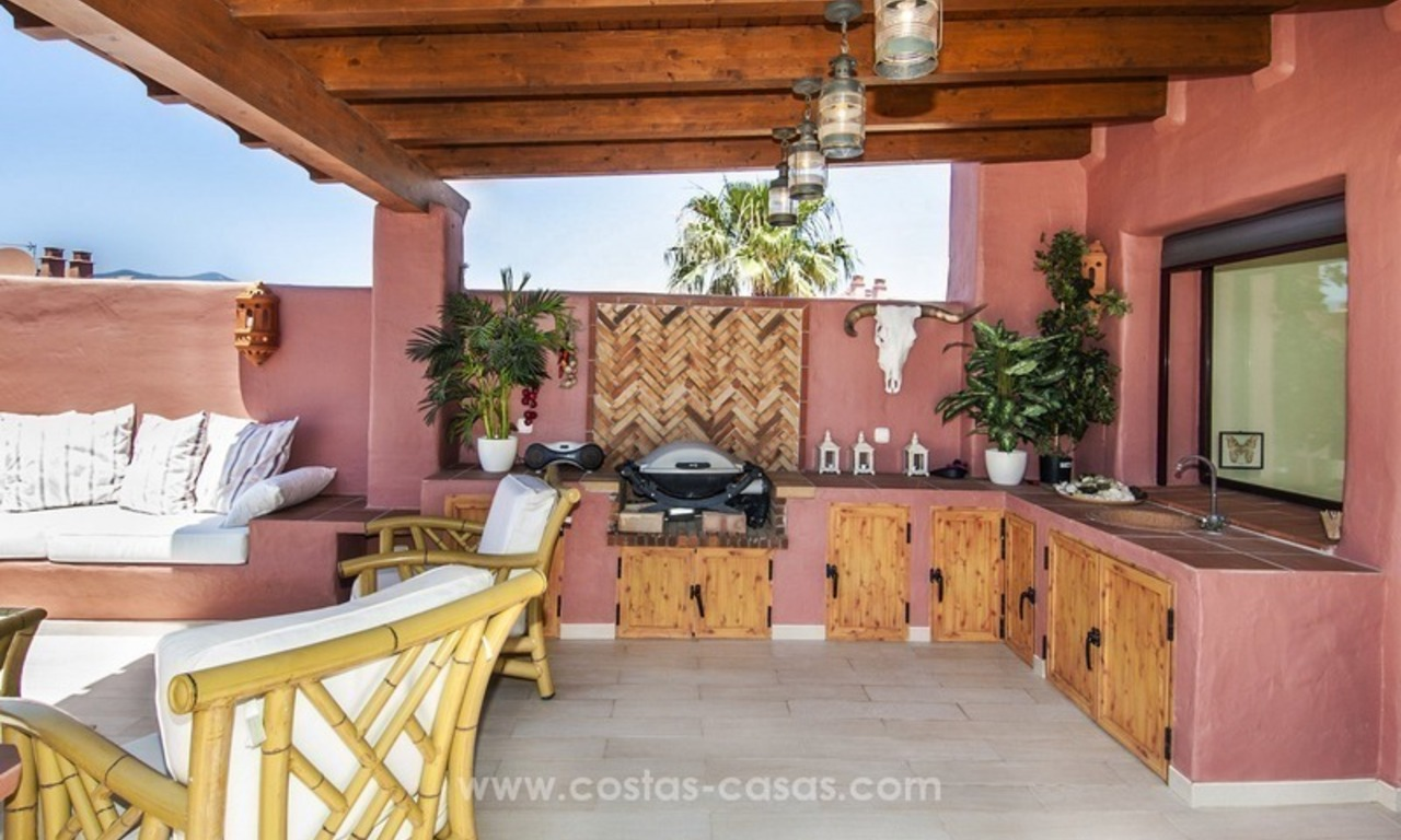 Luxury beachfront penthouse apartment for sale on the New Golden Mile between Marbella and Estepona 6