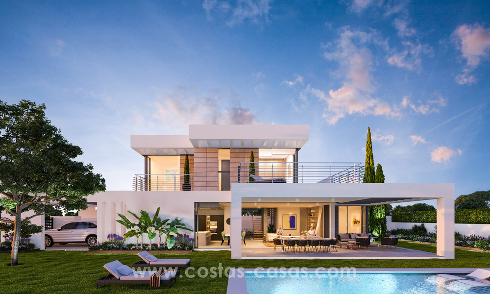 Key-ready contemporary villa with sea views and near the beach for sale between Marbella and Estepona 17598