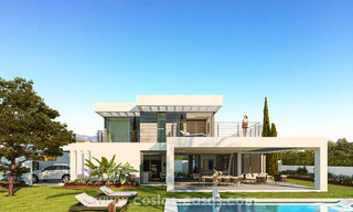 Key-ready contemporary villa with sea views and near the beach for sale between Marbella and Estepona 17600
