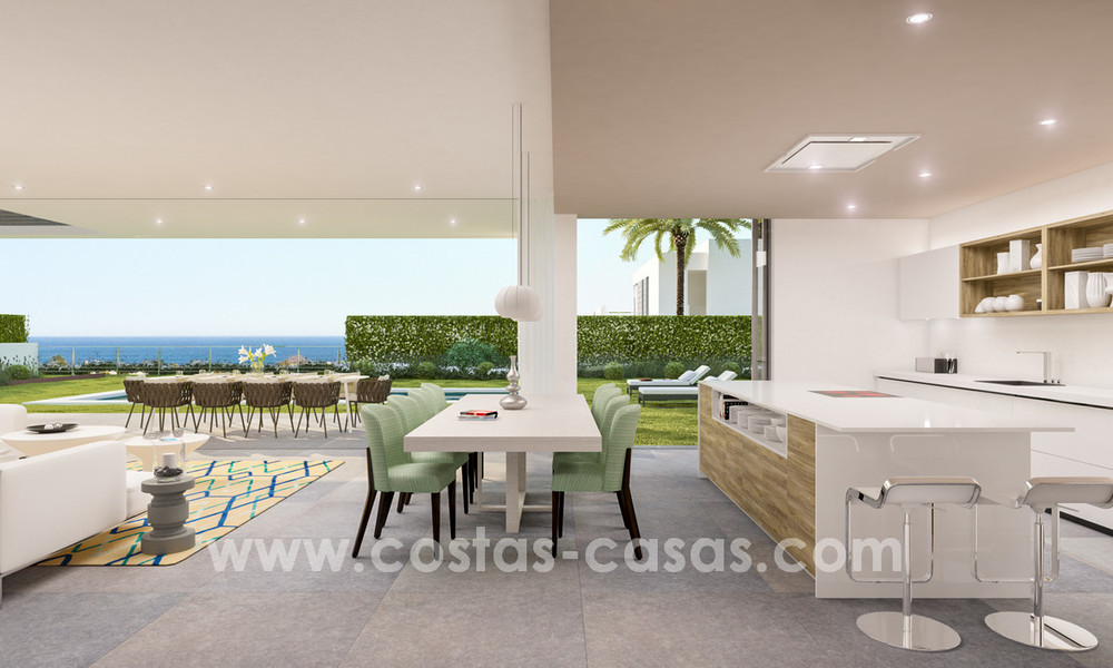Key-ready contemporary villa with sea views and near the beach for sale between Marbella and Estepona 17602