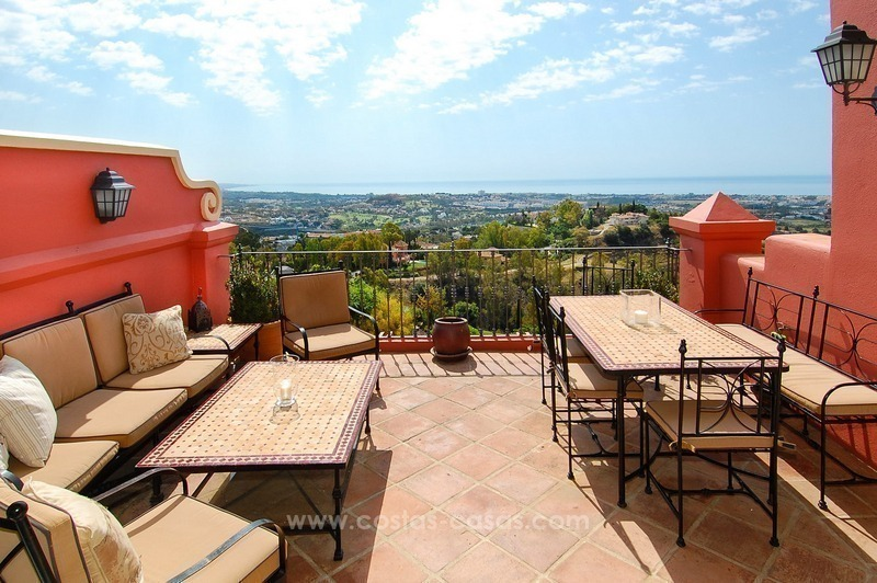 Panoramic Sea View 3 Bed Penthouse Apartment for Sale in Marbella - Benahavis