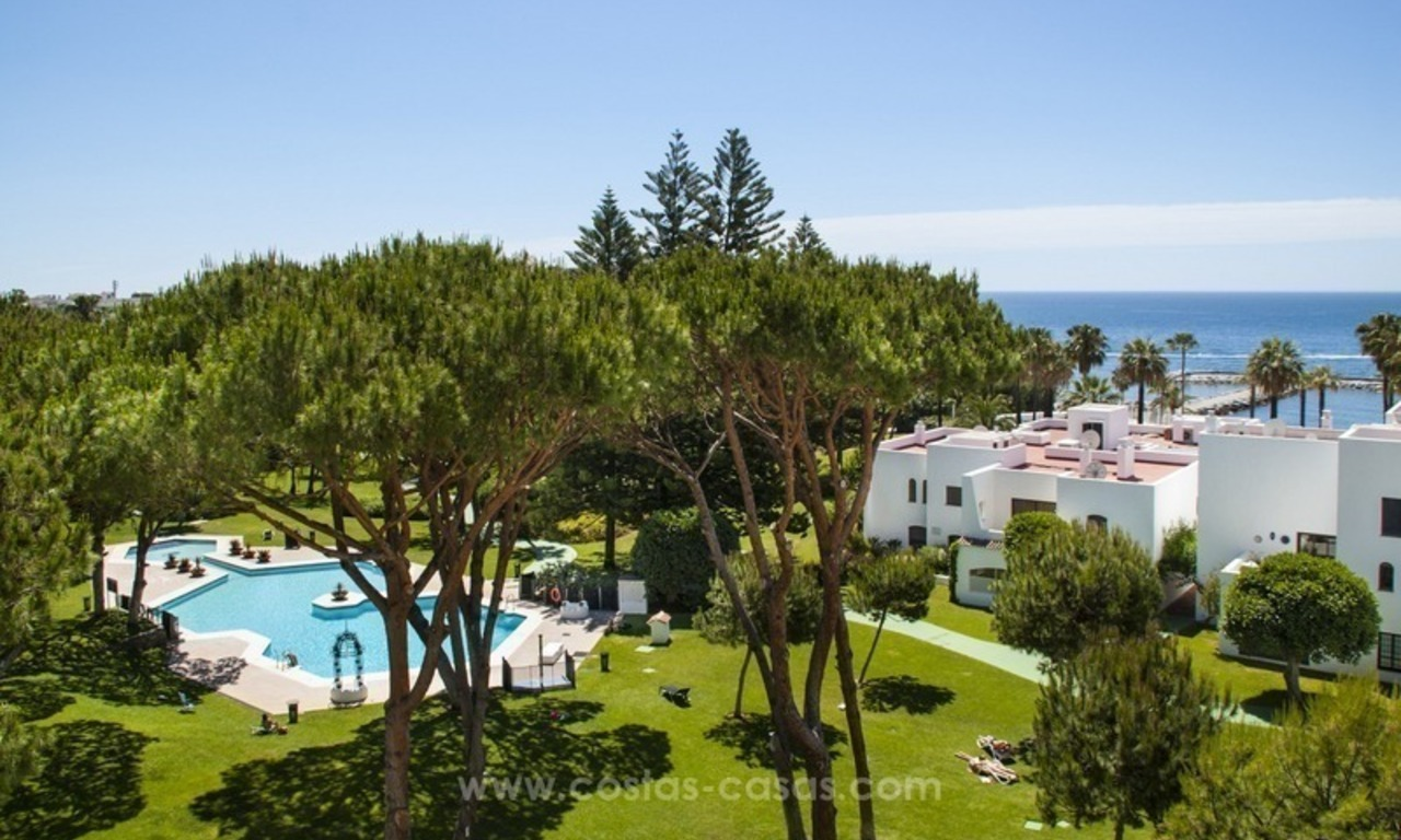 Front Line Beach Puerto Banus for Sale in Playas del Duque: Totally Refurbished Super Luxury Sea View Apartment 1
