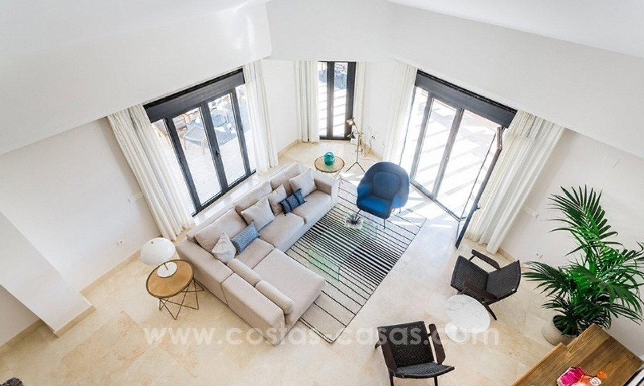 Large corner penthouse for sale with sea and mountain views in the heart of San Pedro, Marbella 10