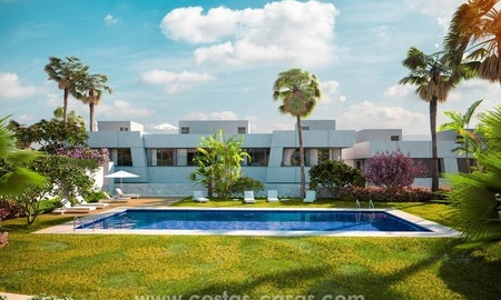 Luxury modern new townhouses for sale in East Marbella 3
