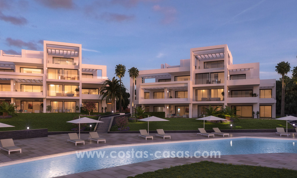 Stunning Modern Designer Apartments & Penthouses for sale frontline golf in Benahavis - Marbella 18839