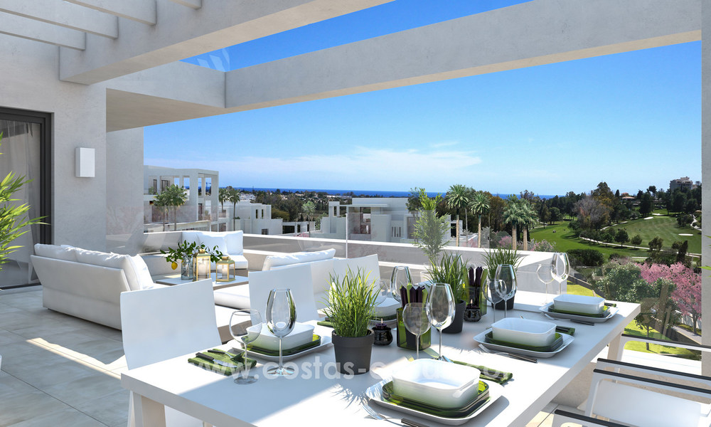 Stunning Modern Designer Apartments & Penthouses for sale frontline golf in Benahavis - Marbella 18845