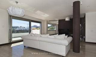 Panoramic sea view modern penthouse apartment for sale in Benahavis, Marbella 15