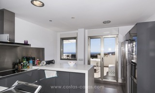 Panoramic sea view modern penthouse apartment for sale in Benahavis, Marbella 18