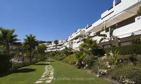 Panoramic sea view modern penthouse apartment for sale in Benahavis, Marbella
