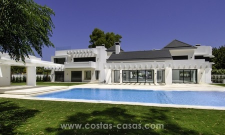 New modern beach villa for sale in Marbella