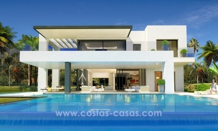 Brand New Designer Villas for sale on the Golden Mile, Marbella